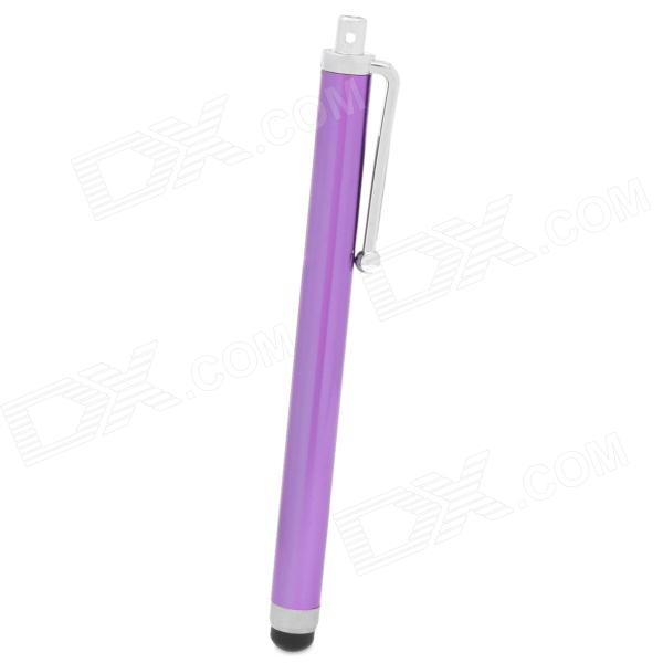 Aluminum Alloy Touchpad Stylus Pen for Ipad / Iphone / Samsung P6200 + More - Purple