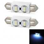 Festoon 39mm 1W 80lm 2-SMD 5630 LED Cool White Light Anti-Seismic Car Lamps (12V / 2 PCS)