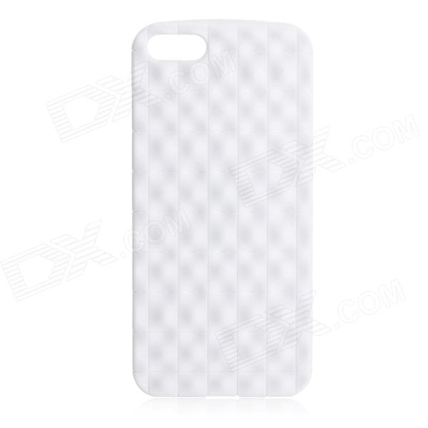 Protective Grainy TPU Back Case for Iphone 5 - White