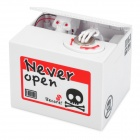 Halloween Sounded Skull Piggy Bank - White (2 x AA)