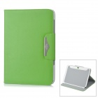 Lychee Pattern Protective PU Leather Case for Samsung Galaxy Note N8000 - Green