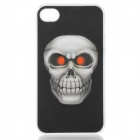 Cool 3D Skull Head Pattern Protective Plastic Case for Iphone 4 / 4S - Black