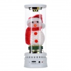 Snowman Style Rechargeable Media Player Speaker w/ SD - White