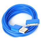 USB Male to 30 Pin Data / Charging Cable for iPad / iPhone - Blue (300cm)
