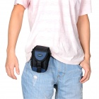 Genuine Sepai B605RD Multifunction Universal Nylon Waist Bag for Camera / Cell Phone - Black + Blue