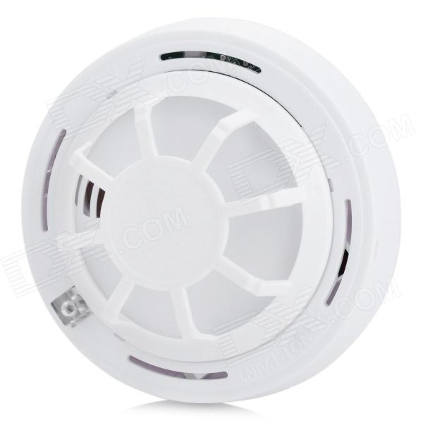 Wireless Smoke / Temperature Detector Sensor Alarm - White (1 x 9V 6F22)