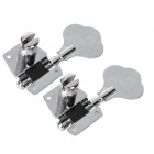 Open Style Bass String Tuning Pegs - Silver (2 PCS)