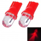 T10 1W 50lm LED Red Light Motorcycle Instrument / Steering / Fog Light (2 PCS)