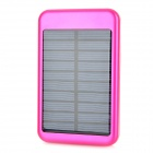Portable Solar Powered 5000mAh Mobile Power Battery Charger w / 10 Adapter - Deep Pink