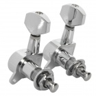 Closed Type Folk / Electric Guitar String Tuning Pegs - Silver (2 PCS)