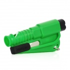 3-in-1 Multi-functional Car Emergency Life-Saving Hammer Keychain - Green + Black