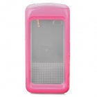 Waterproof Protective Plastic + Silicone Case for Iphone 4 / 4S - Deep Pink
