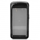 Waterproof Protective Plastic + Silicone Case for Iphone 4 / 4S - Black