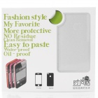 Fashion Glaring Protective Full Body Haut Aufkleber für iPhone 4 / 4S - Silber