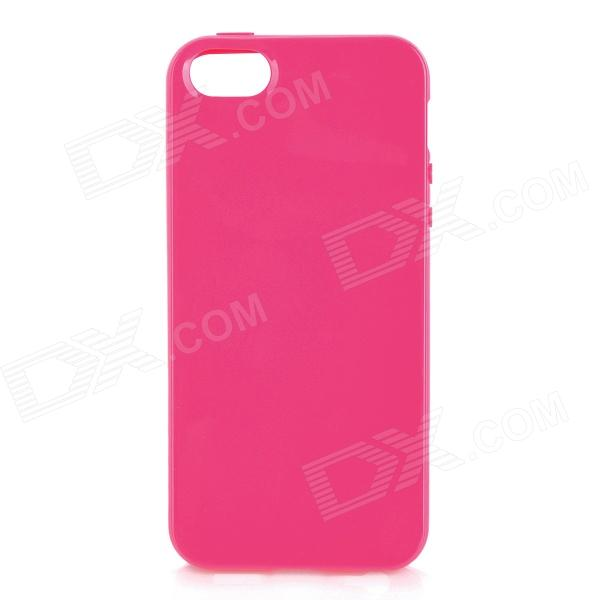 Protective TPU Back Case for Iphone 5 - Deep Pink cartoon pattern matte protective abs back case for iphone 4 4s deep pink