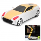 Cool Car Style 1.2W Rechargeable 17-LED 2-Mode Folding Desk Lamp - Yellow