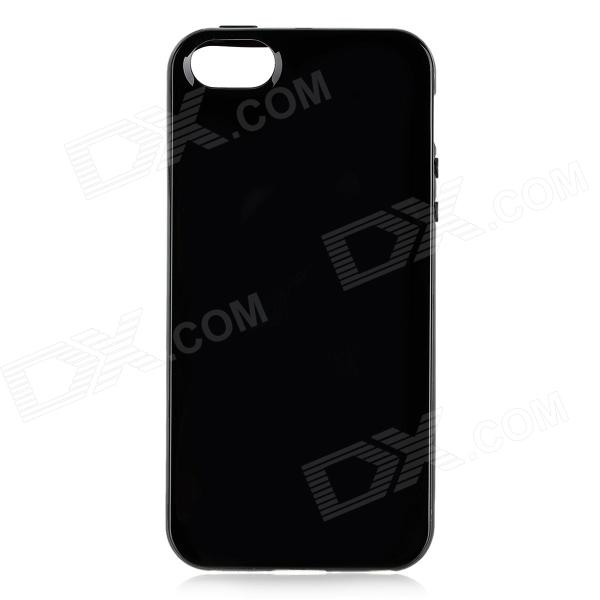 Protective TPU Back Case for Iphone 5 - Black protective pc tpu back case for iphone 5 w anti dust cover black yellow