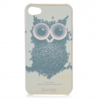 Coffee Owl Pattern Protective Plastic Case with Screen Protector for Iphone 4 / 4S
