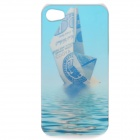 Sailing Boat Pattern Protective Plastic Case with Screen Protector for Iphone 4 / 4S