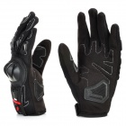 Scoyco Sporty Full-Finger Anti-Slip Motorcycle Gloves - Black (Pair / L Size)