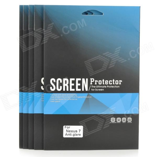 Protective Matte Screen Protector Guard Film for Google Nexus7 (5 PCS) protective clear screen protector film guard for google nexus 7 ii transparent 3 pcs