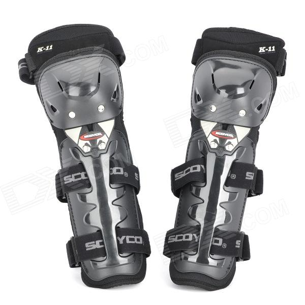 Scoyco K11 Motorcycle / Bicycle Sports Knee Pad Guard - Black (Pair)