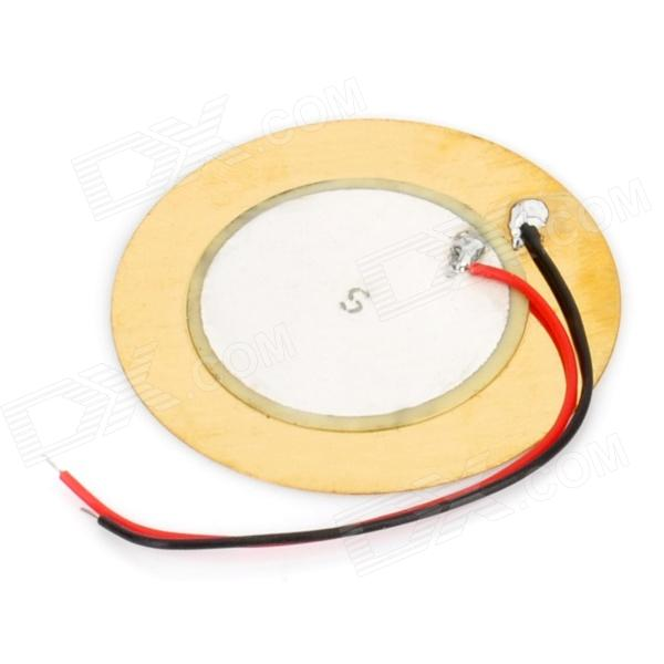 SY-35T2A1 35mm Piezo Transducer Sound Disc w/ Leads - Golden