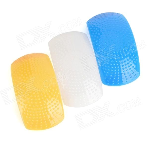 3 Color Pop-Up Flash Diffuser Kit - Blue + White + Yellow