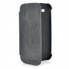 Protective PU Leather Cover Plastic Case w/ Stand for Samsung i9300 / i9308 - Black