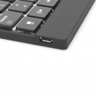Ultra-Slim Portable 78-Key Bluetooth V3.0 Keyboard for Ipad + Iphone + More - Black