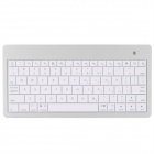 BK6089B2 Slim Portable Wireless Bluetooth V3.0 80-Key Keyboard - White