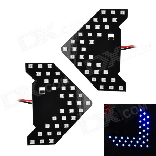 1.6W 65LM 465nm 33-3528 SMD LED Blue Light Car Side View Mirror Steering Lamps (2 PCS / 12V)