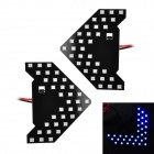 1.6W 65lm 465nm 33-3528 SMD LED Blue Light Car Side View Mirror Steering Lampen (2 PCS / 12V)