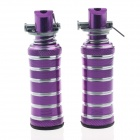 DIY Circle Style Motorcycle Parts Back Pedals - Purple (Pair)