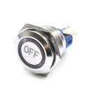 Stainless Steel Water Resistant Push Button Switch with Red LED Indicator for Vehicle DIY (12V)