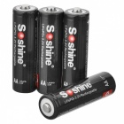 Soshine 14500 LiFePO4 3.2V 700mAh Rechargeable Batteries w/ Box - Black (4 PCS)