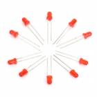 3mm F3 Round Head Red Light 1000MCD Signal Indicator LEDs Set (10 PCS)