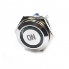Water Resistant Stainless Steel Push Button Power Switches - Silver