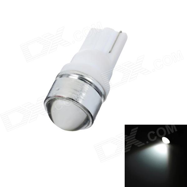 T10 2W 180lm White Light Car Indicator Lamp (DC 12V)LED Wedget Bulbs<br>Model: K120802Q - Casing Color: Silver - Material: Plastic + Aluminum - Emitter Type: LED - Total Emitters: 1 - Light Color: White - Rated Voltage: 12V - Power: 2W - Luminous Flux: 180lm - Color Temperature: 6000~7000K - Connector Type: T10 - Application: Indicator lamp<br>