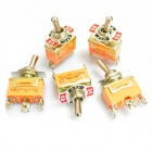Electrical Power Control 3-Pin Toggle Switch - Orange (5 PCS)