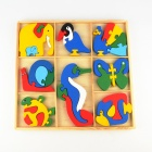 Wooden 8-Animal Puzzle Jigsaw Teaching Toys
