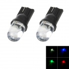 T10 1W 50lm 1-RGB LED Flashing Light Motorcycle Instrument / Fog / Steering Lamp (2 PCS / 12~14V)