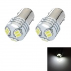 1157 3W 6-SMD 5630 LED White Light Car Brake / Tail Light Bulb (DC 12~24V / Pair)