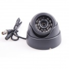 SX-424 Waterproof PAL CMOS Video Camera w/ 24-IR LED Night Vision - Black