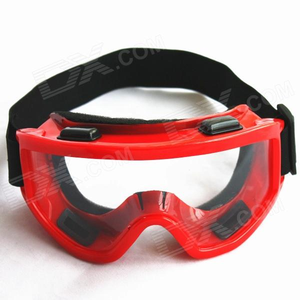 Fashion Outdoor Safety Eye Protection Goggles - Red Frame