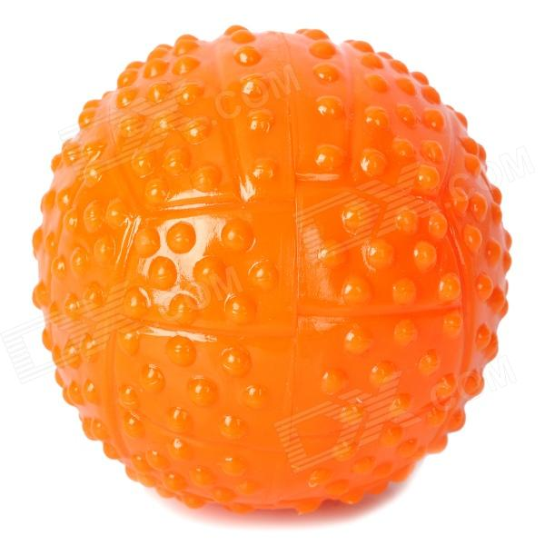 Fun Pet Dog Ball Toy - Orange super soft frisbee ufo style silicone indoor outdoor toy for pet dog light green