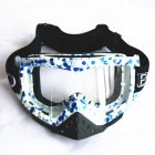 Fashion Outdoor Safety Eye Protection Goggles - Blue + White Frame
