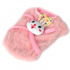 Cute Rabbit Style Pet Dog Apparel Clothes - Pink (Size L)
