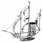 Creative Crafts Segelschiff Style Iron Pen Holder - Deep Grey