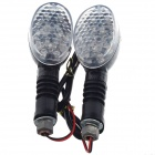 DIY Motorcycle Decoration 0.96W 17-LED Yellow Light Turn Signal Lamp - Black + Grey